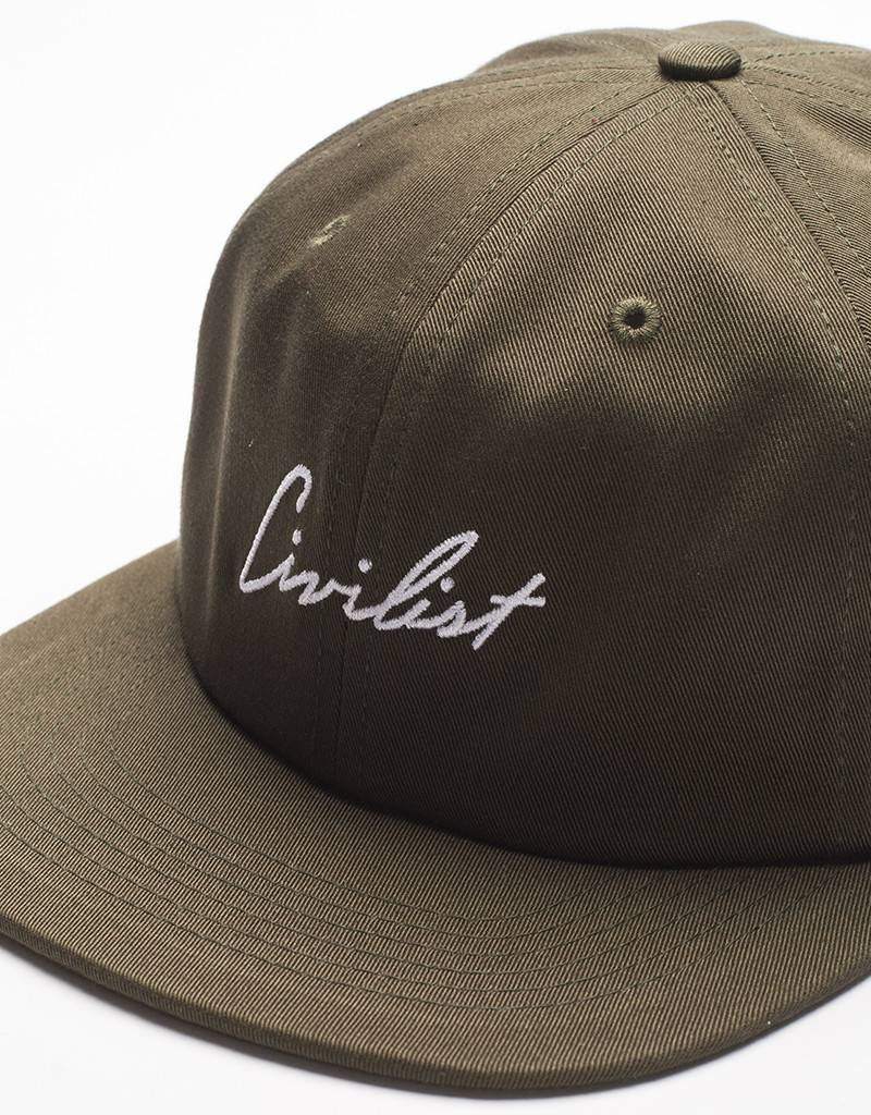 Civilist Cap Unstructured Sixpanel Script Army
