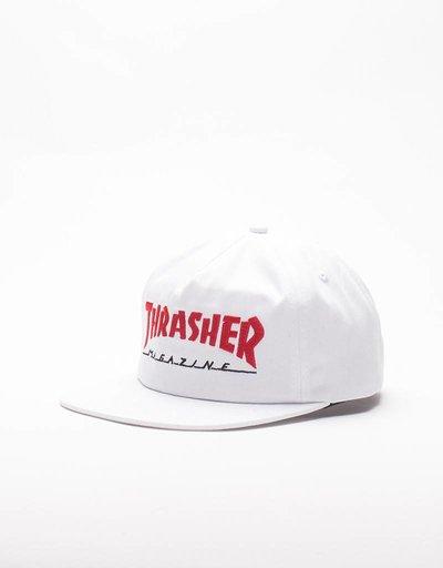 Thrasher Magazine Logo Two-Tone Cap White/Red