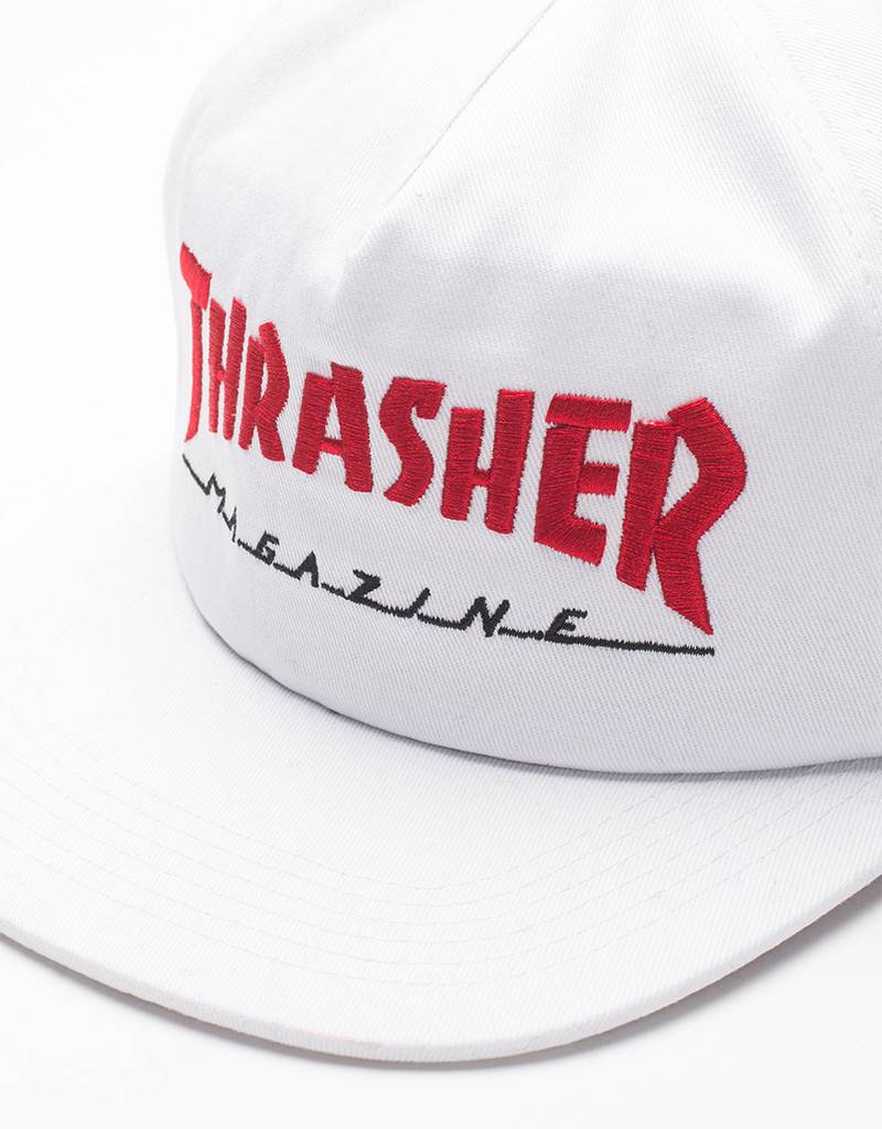 Thrasher Magazine Logo Two-Tone Cap White/Red
