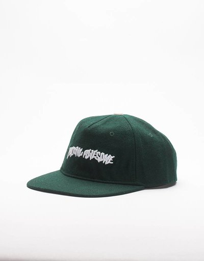 Fucking Awesome Cap Logo Wool Forest Green