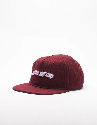 Fucking Awesome Cap Logo Wool Burgundy