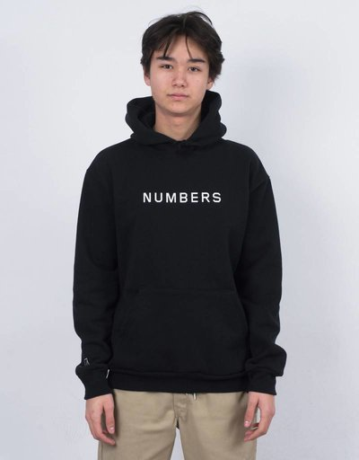 Numbers Wordmark Fleece Hoodie Black