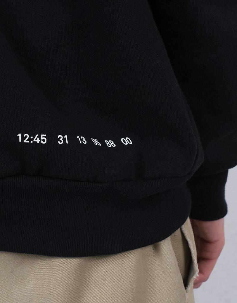 Numbers Wordmark Fleece Hoodie Black
