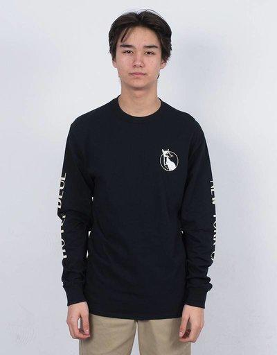 Hotel Blue Siamese Longsleeve T-shirt Black