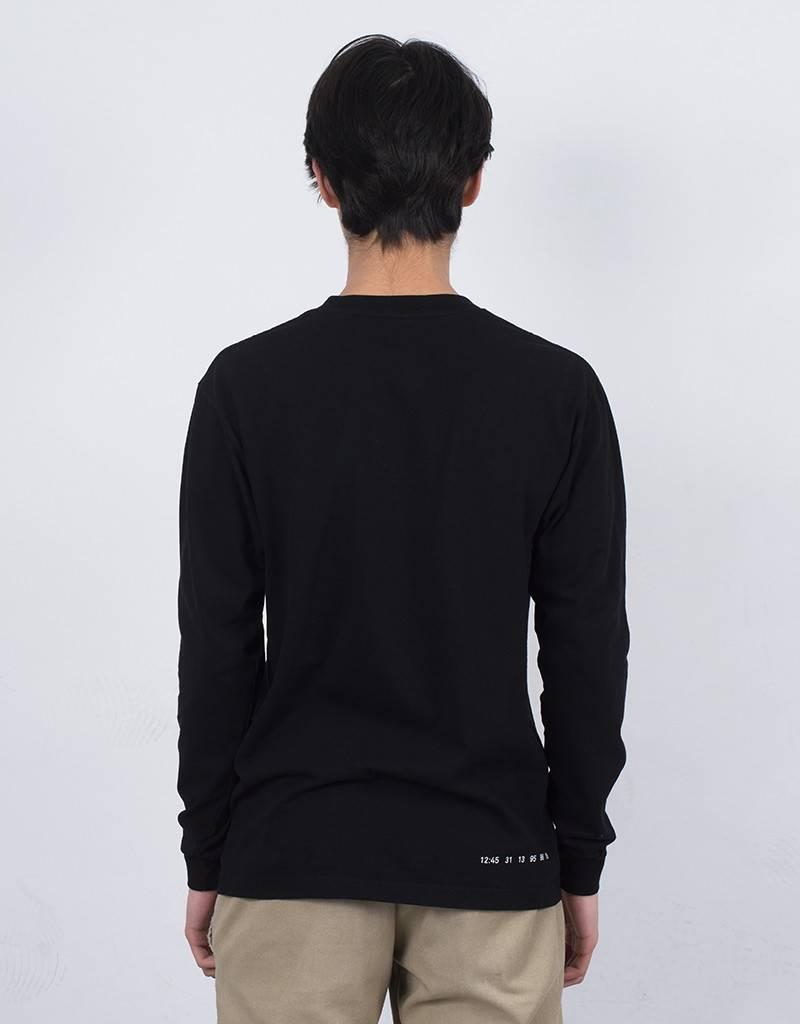 Numbers Mitered Logotype Longsleeve T-Shirt Black