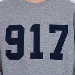 Call Me 917 Varsity Appliqué Crewneck Heather Grey