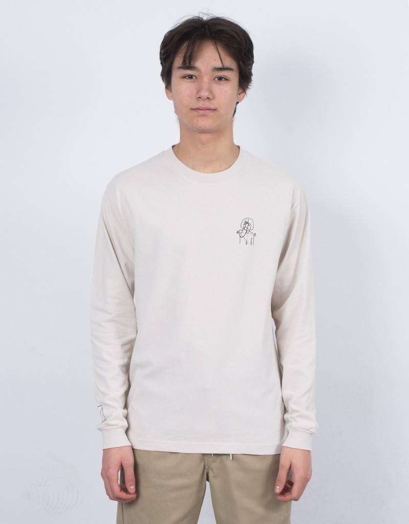Numbers 12:45 Angel Longsleeve T-Shirt Light Bone