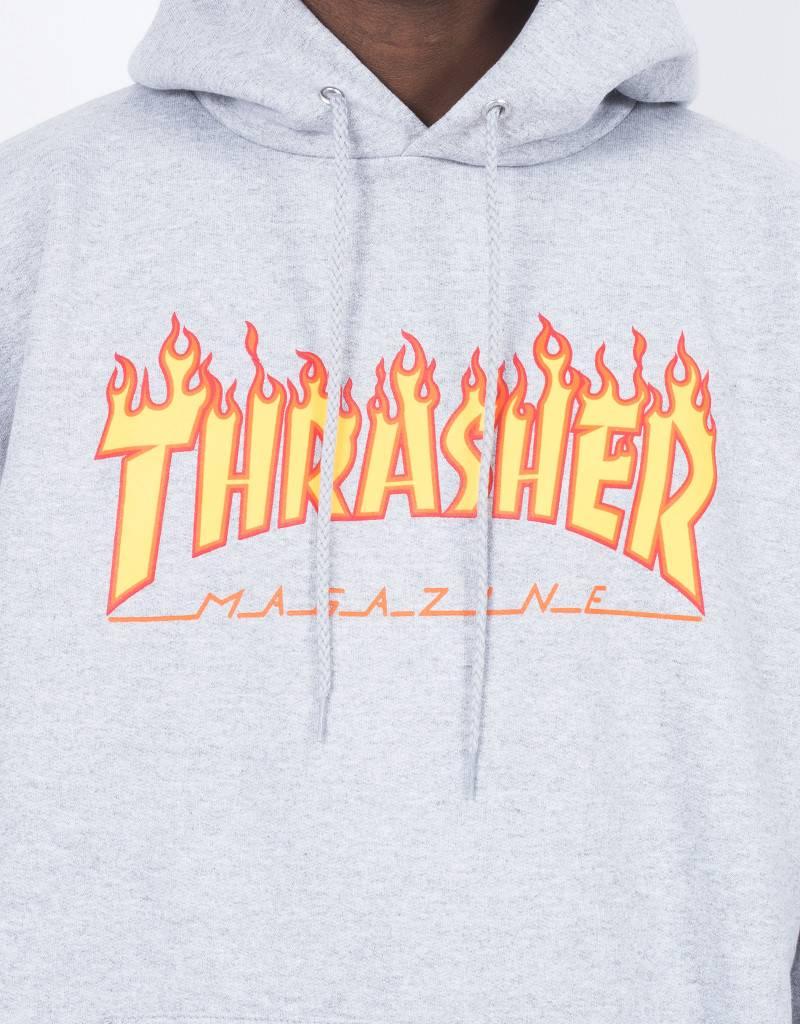 Thrasher Flame Hoodie Grey