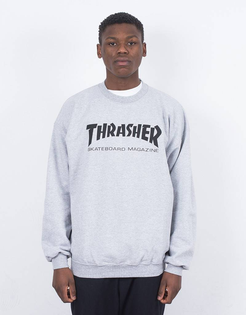 Thrasher Skate Mag Crewneck Sweater Grey