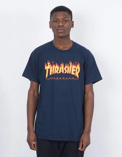 Thrasher Flame T-shirt Navy