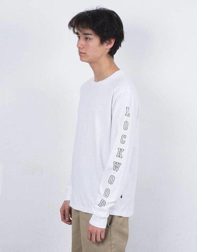 Lockwood Old 3D outline Longsleeve T-shirt White