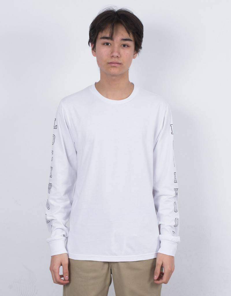 Lockwood Old 3D outline Longsleeve T-shirt White