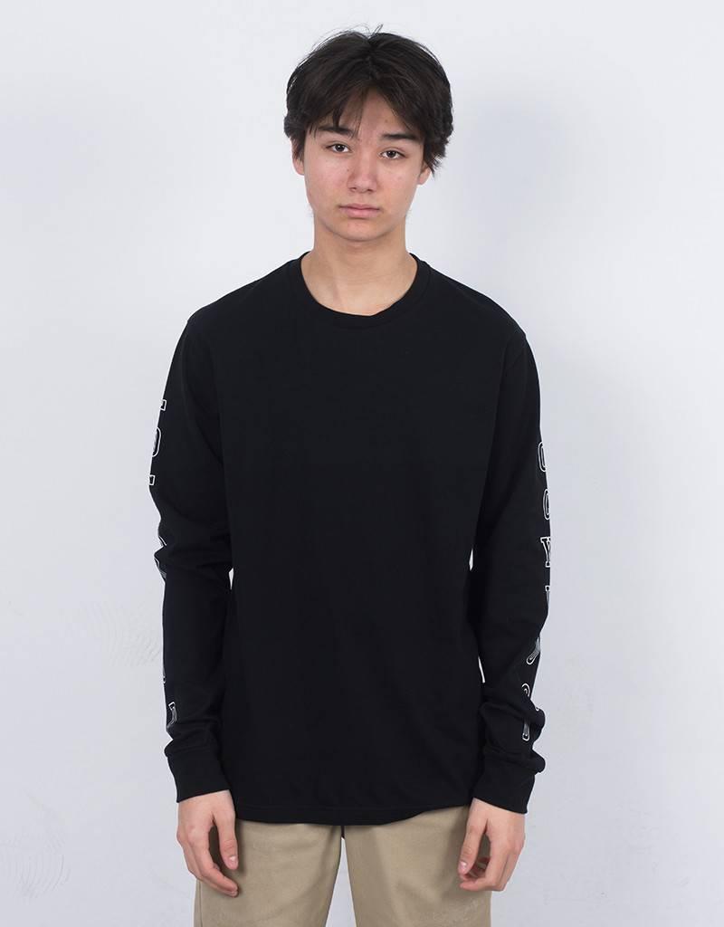 Lockwood Old 3D outline Longsleeve T-shirt Black