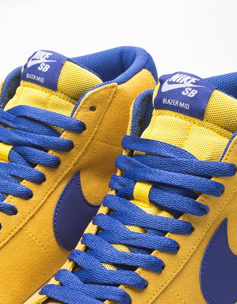 Nike SB Blazer Zoom Mid Tour Yellow/Deep Night