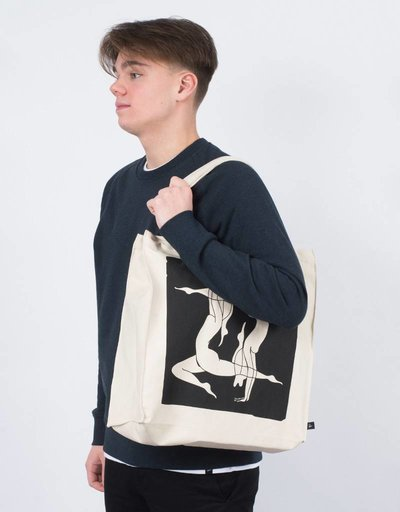 Parra Tote Bag Explaining Natural