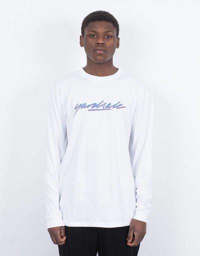 Yardsale Script Longsleeve T-Shirt White