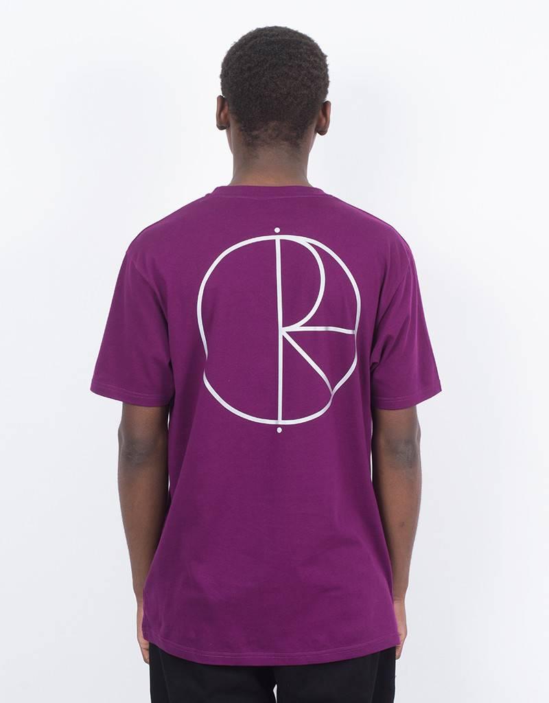 Polar Reflective Stroke T-Shirt Prune/Silver