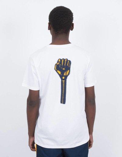 adidas x Hardies T-Shirt White/Navy/Yellow