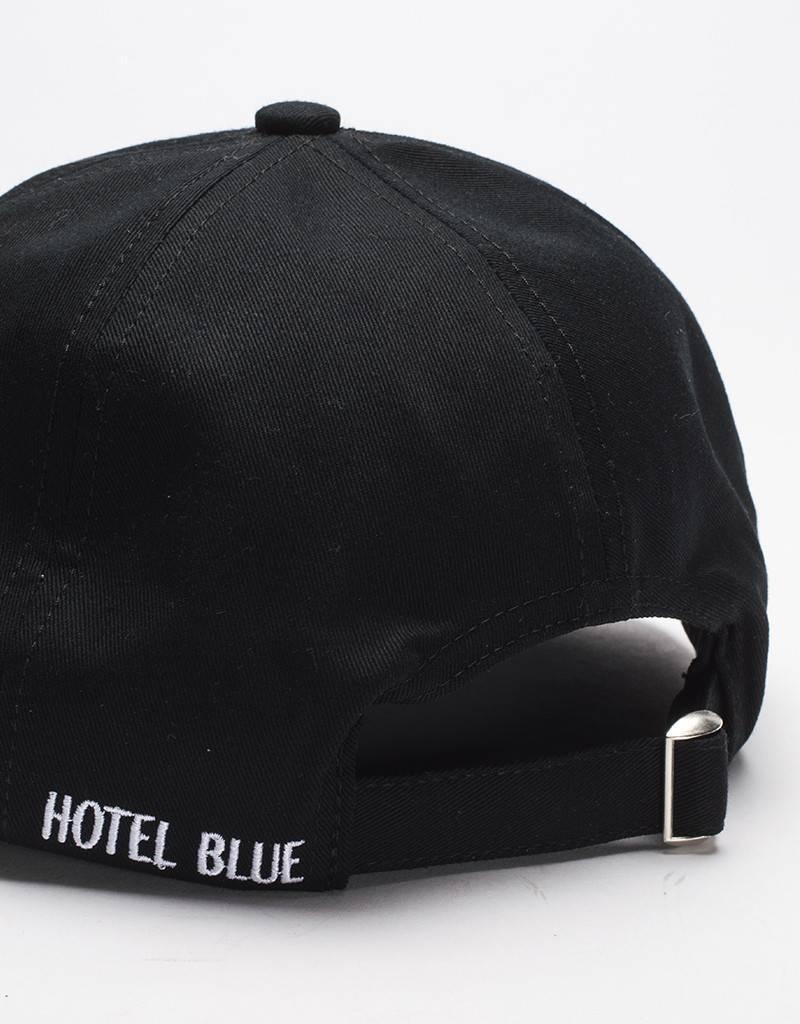 Hotel Blue 6-panel unconstructed inc Pin Cap Black