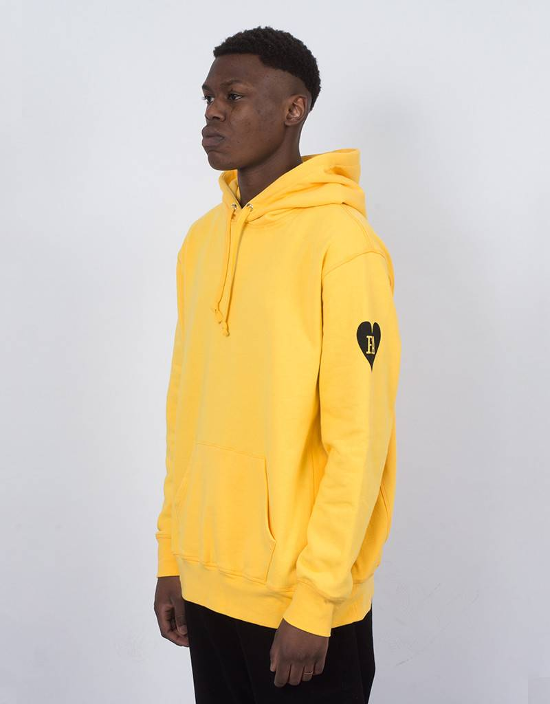 Fucking Awesome Hearts Hoodie Yellow