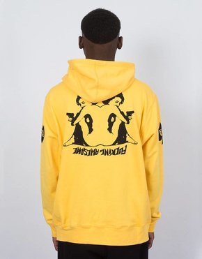 Fucking Awesome Fucking Awesome Hearts Hoodie Yellow