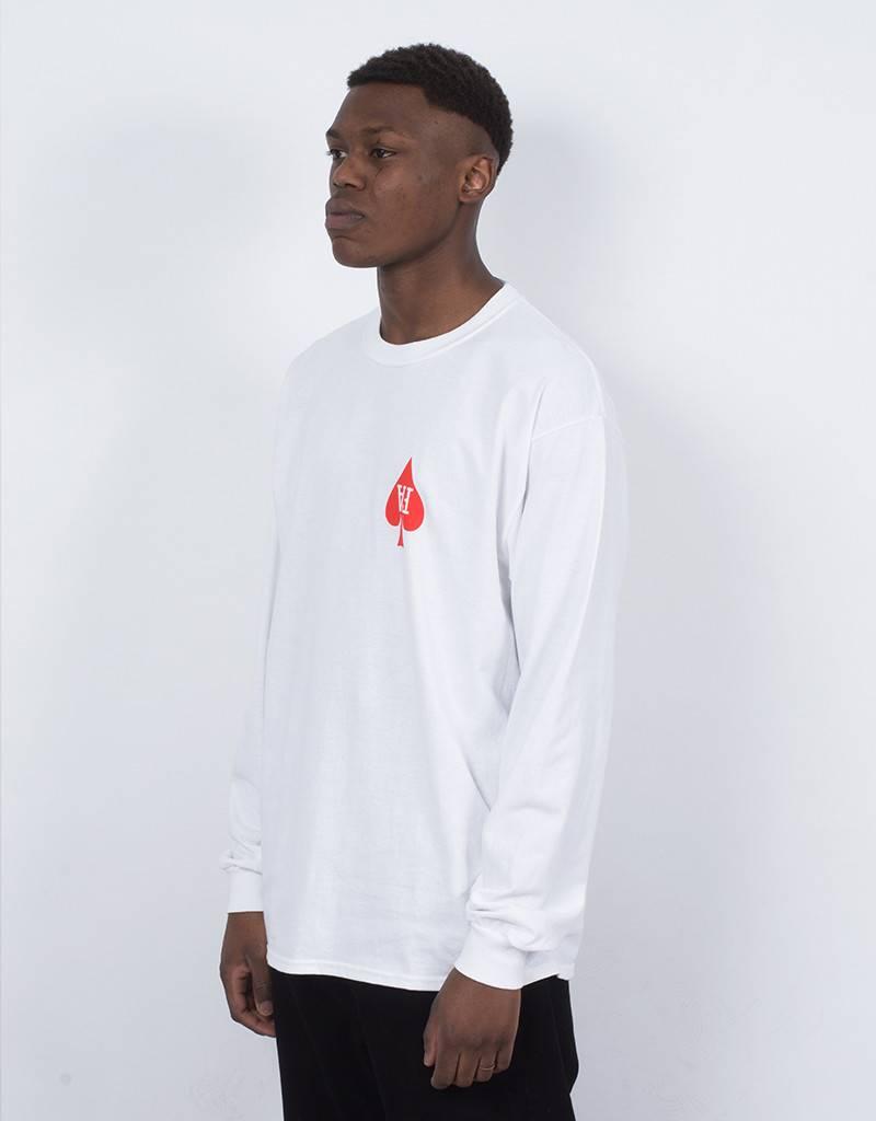 Fucking Awesome Heart Longsleeve White