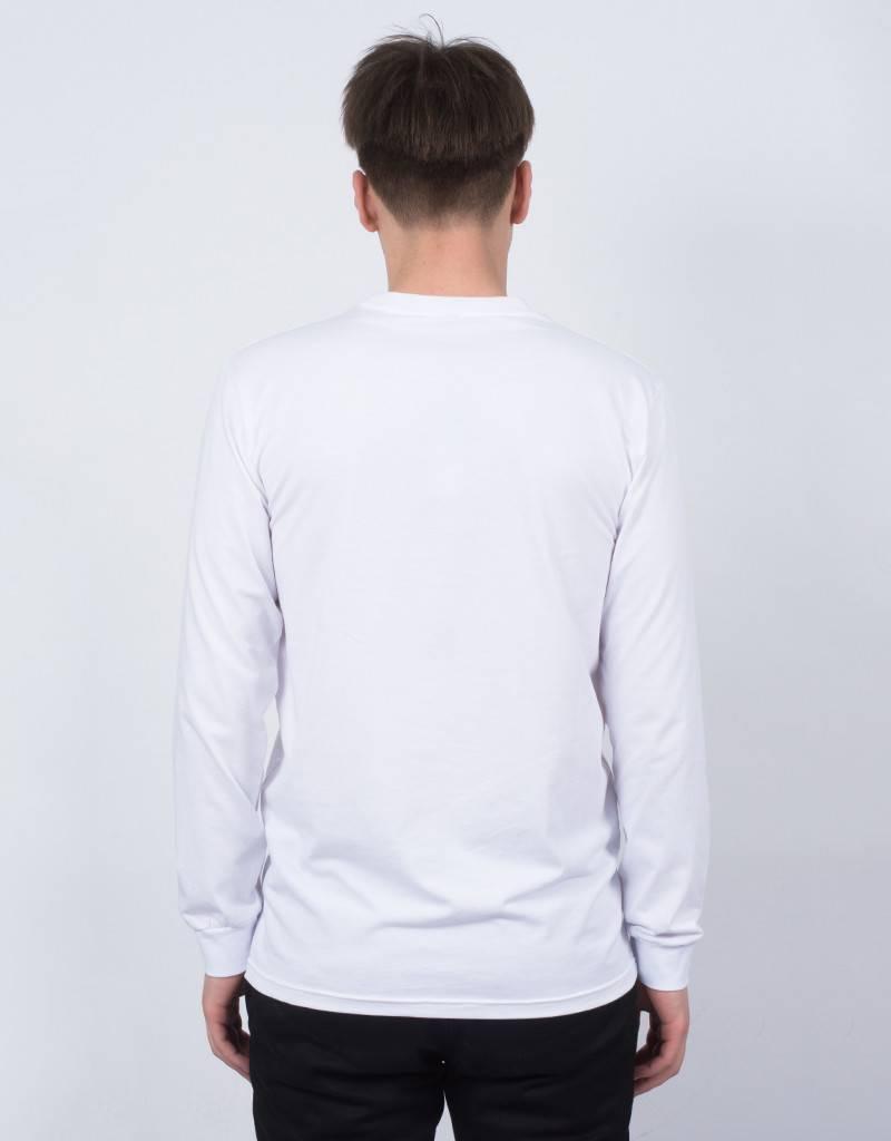 Parra Biker Girls Longsleeve T-Shirt White