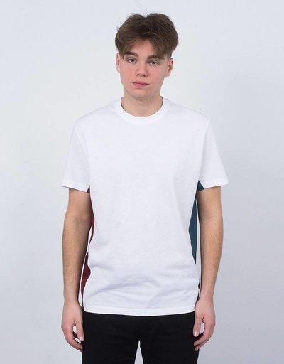 Futur Ribs T-Shirt Ox Red/Paon Green/White