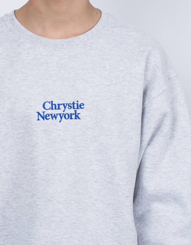 Chrystie Minion Logo Crewneck Ash Grey
