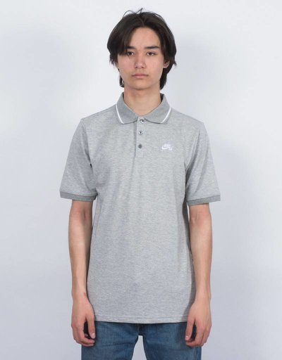 Nike SB Dry Polo Pique Grey Heather/White