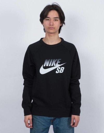 Nike SB Icon Fade Crewneck Black/White