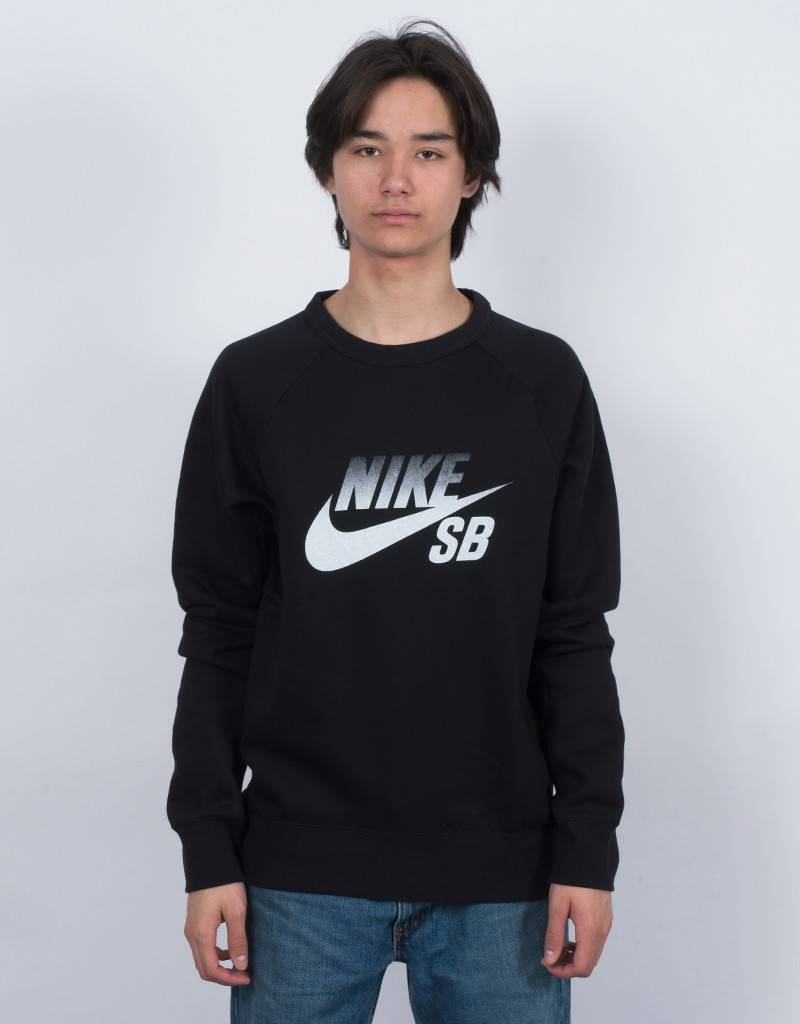 Nike SB Icon Fade Crewneck Black/White