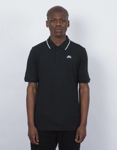 Nike SB Dry Polo Pique Black/White