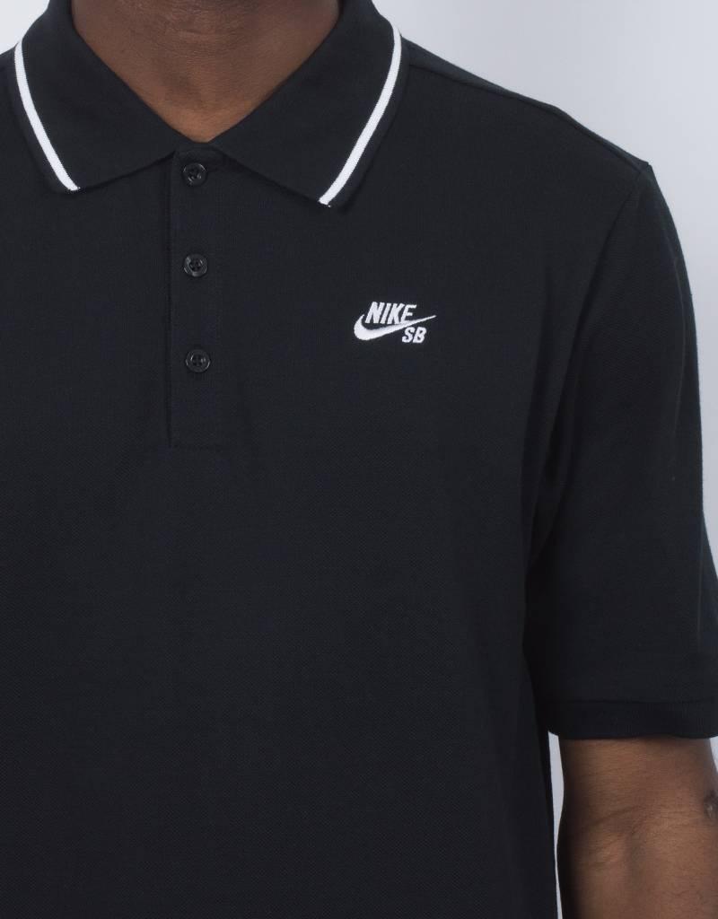 Nike SB Dry Polo Pique Black/White