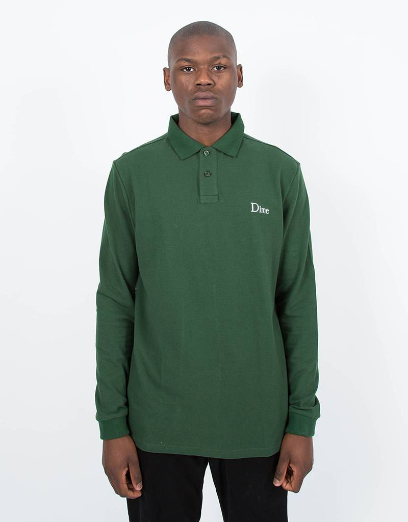Dime Polo Longsleeve T-Shirt Green