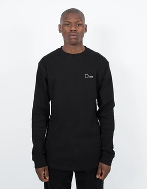 Dime Dime Thermal Longsleeve T-Shirt Black