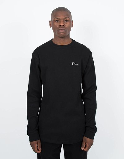 Dime Thermal Longsleeve T-Shirt Black