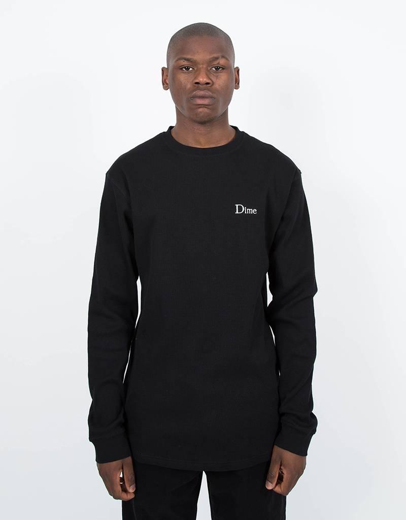 Dime Thermal Longsleeve T-Shirt Black