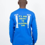 Call Me 917 Coffee Longsleeve T-Shirt Blue