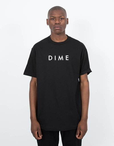 Dime Basic Logo T-Shirt Black