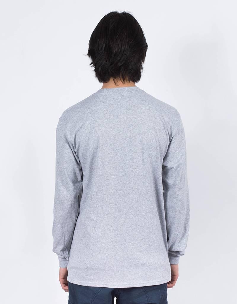 Free Wifi Longsleeve T-shirt faces grey