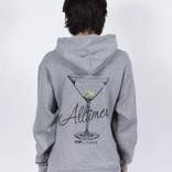 Alltimers Watercolor Logo Hoodie Grey