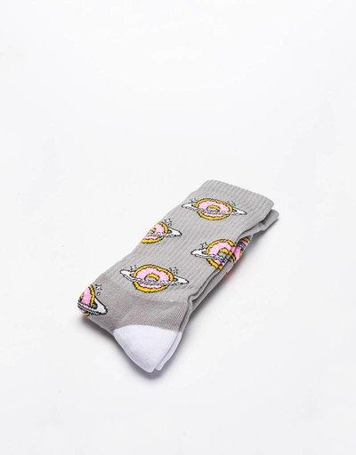 Skateboard Cafe planet donut socks grey