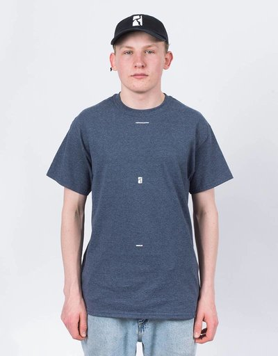 Poetic Collective Minimalism T-Shirt Heather Navy