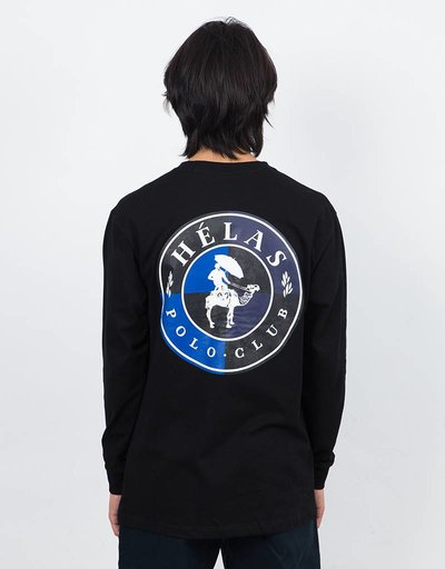 Hélas Polo Club Longsleeve T-Shirt Black