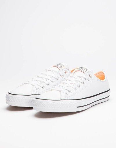 Converse CTAS Pro Ox White/Hyper Orange/Black
