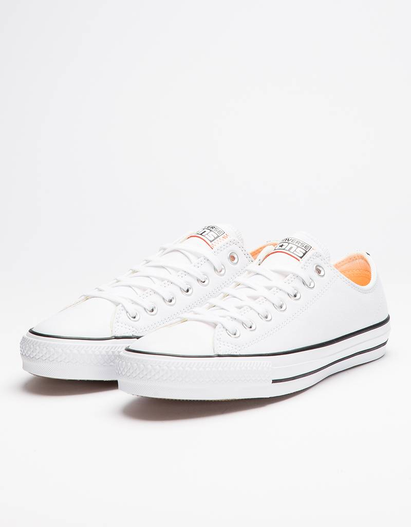 Converse CTAS Pro Ox White/Hyper Orange/Black