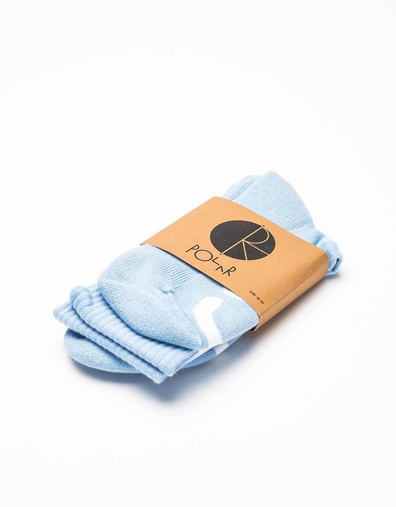 Polar Happy Sad Socks Sea Foam Powder Blue/White