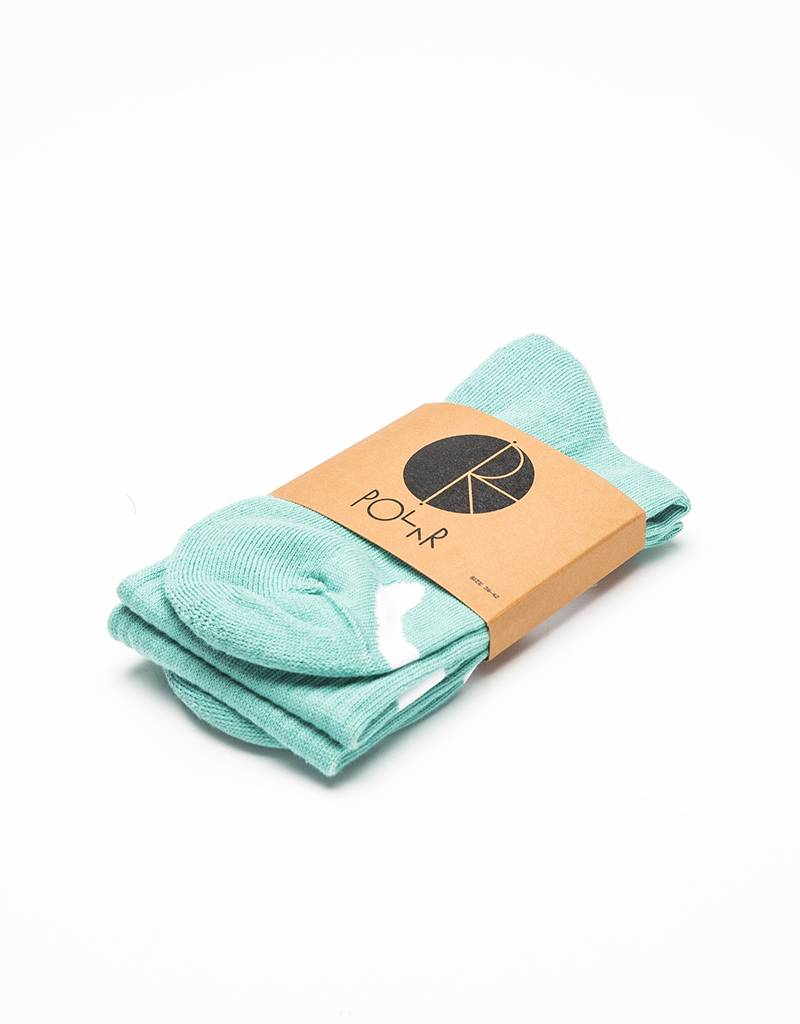 Polar Happy Sad Socks Sea Foam Green/White