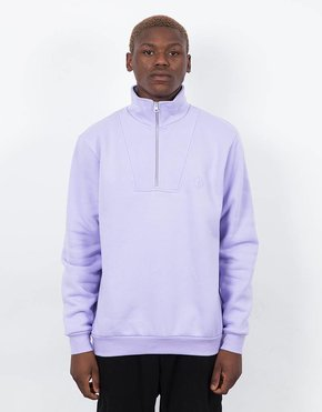 Polar Polar Zip Neck Sweatshirt Lavender